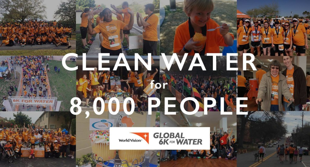 Water for 8,000 people!